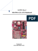 MS-6704 (v2.X) ATX Mainboard