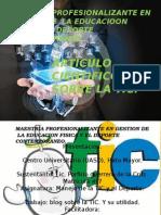 Maestria Profesionalizante en Gestion de La Educacioon Fisica Modificada