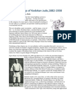 The Beginnings of Kodokan Judo,1882-1938