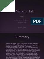 the value of life final1sophia