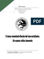 Il Nesso Monetario- Fiscale Del Neo-cartalismo. Un Esame Critico Benevolo