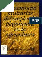 Consecuencias sanitarias del empleo de plaguicidas en la agricultura