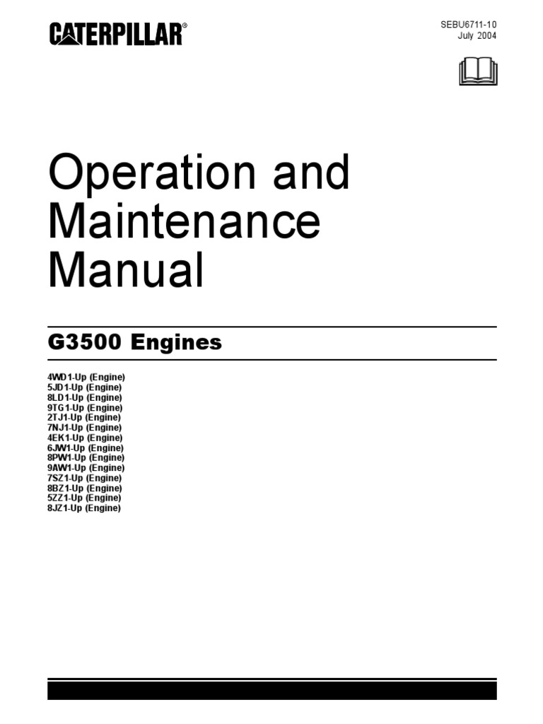 Manual 3516 Cat | Carburetor | Turbocharger