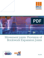 Movement Joints - Provision of brickwork expansion joints