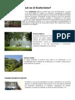 Qué Es El Ecoturismo