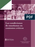 Condiciones de enseñanza en contextos críticos