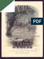 j.fauré Sur Le Lac d'Argent pdf