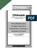 """""""Procedimiento Para La Supervisión de La Facturación, Cobranza y Atención Al Usuario"""" 03-04-2009_se1"""
