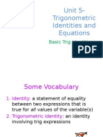 unit 5  basic trig identities