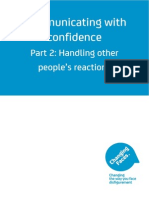 Support Disfigurement 2.Communicating with confidence Handling other people's reactions