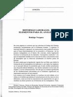 Vergara, r. (1995) REFORMAS LABORALES. Elementos Para El Analisis
