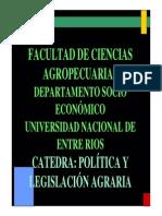 UNIDAD I Versi n 2010. C Tedra Pol Tica y Legislaci n Agraria