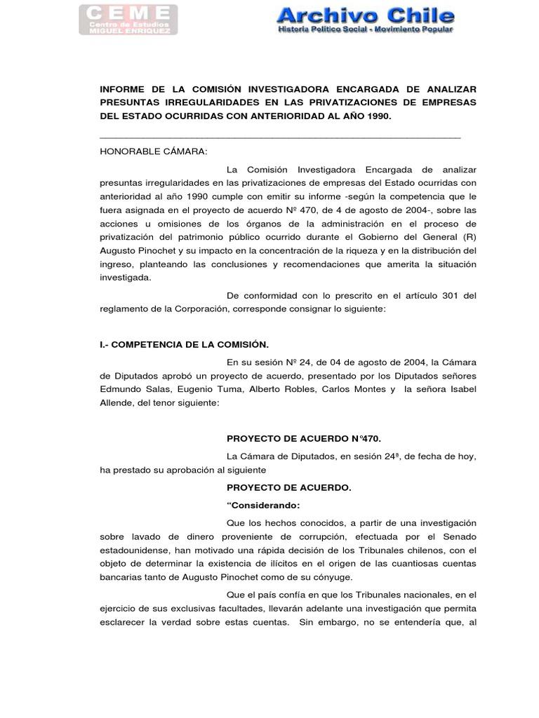 Informe Comision Investigadora Por Irregularidades en ...
