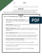 novel study activity sheet