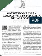 Gnoselogia de la logica - Julian Velarde