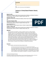 Motivational Interviewing in a Family-based Pediatric Obesity Program- A Case Study
