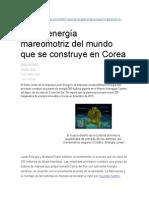 Energia Mareomotriz Corea
