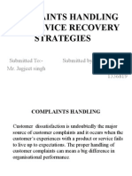 Complaints Handling and Service Recovery Strategies