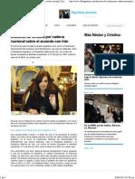 Discurso de Cristina Por Cadena Nacional Sobre El Acuerdo Con Irán