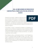 Mecanismos de Rendición de Cuentas Por El Poder Ejecutivo Del Estado de Jalisco