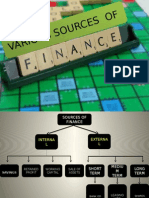 Various Sources of Finance
