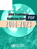 WHO Traditional Medicne Strategy