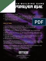 Dc Forever Evil Rulebook