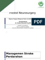 Pretest Neuro Surgery, penanganan stroke perdarahan