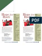 Haiti Bulletin Insert Medical Supplies