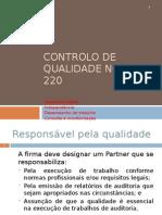 Licção 04 Controlo de Qualidade Norma 220