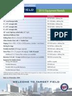 7 - Target Field - Additional Equipment Rental