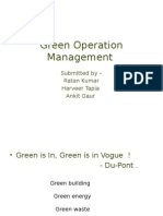 Green Operation Management