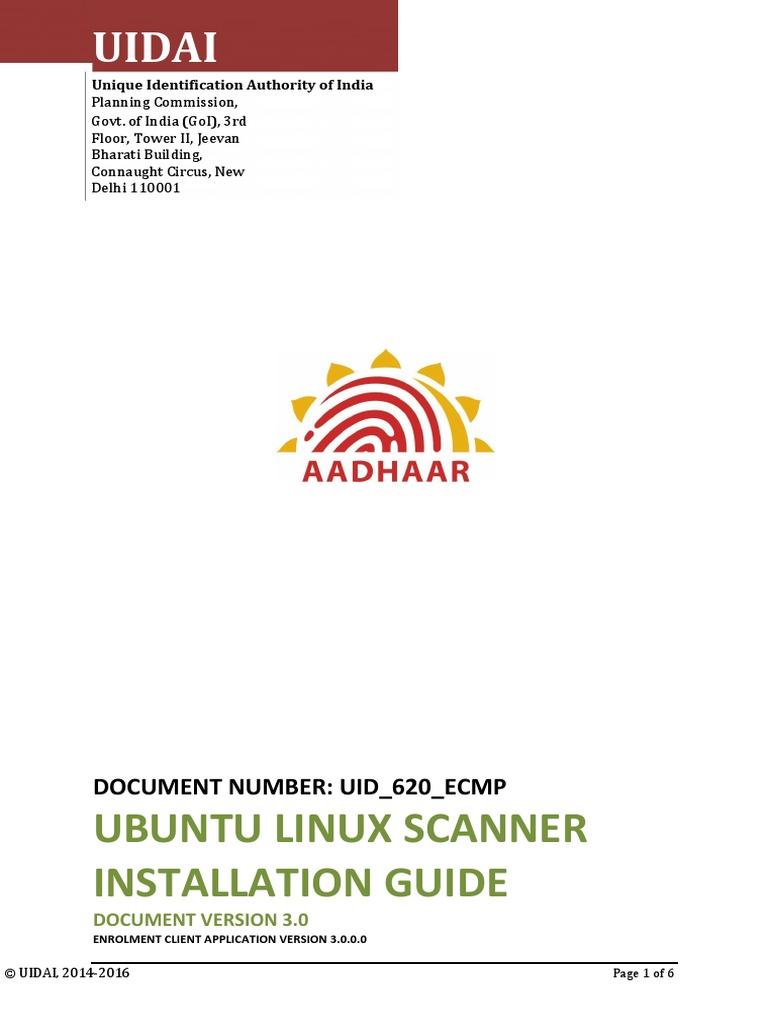 620 ECMP Scanner Installation Guide Linux | Image Scanner