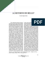 El RETORNO DE BELLO