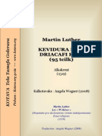 Ninety-Five Theses on the Power of Indulgences of Luther, in Kotava
