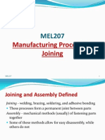 Joining in manufacturing processes