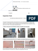 Inspection Tools -Container Damage Measurement, Survey Tools - Container Damage Measurement _ ContainerSurveyTools