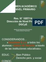Regimen Academico Nivel Primario