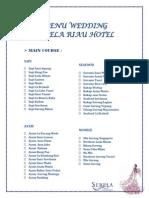 Daftar Menu Wedding