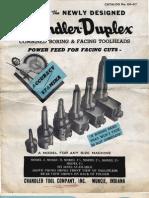 Chandler Duplex Boring Head Catalog