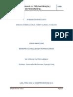Curso Avanzado Hidrometalurgia y Electrometalurgia