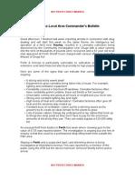 commanders bulletin 16 04 2015