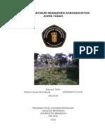 Laporan Praktikum Manajemen Agroekosistem Tegalan