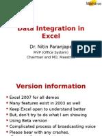Data Integration in Excel 7