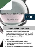 Ejaan Dalam Bhs Indonesia