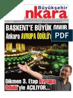 Başkent'e Büyük Onur Ankara Avrupa Ödülün'nü Alıyor
