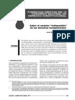 JM Gaceta Constitucional - Indisponibilidad - IX 2008