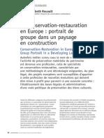 La Conservation-Restauration en Europe - 2005