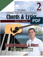 Roman Catholic Mass Songs, CHORDS & LYRICS, vol 2