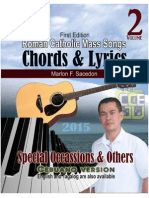 Roman Catholic Mass Songs, CHORDS & LYRICS, vol 2